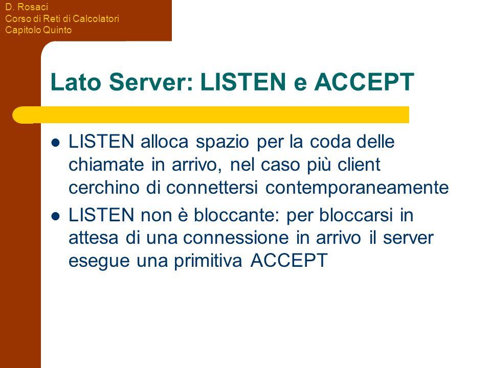 Lato Server: LISTEN e ACCEPT