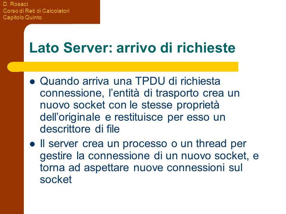 Lato Server: arrivo di richieste