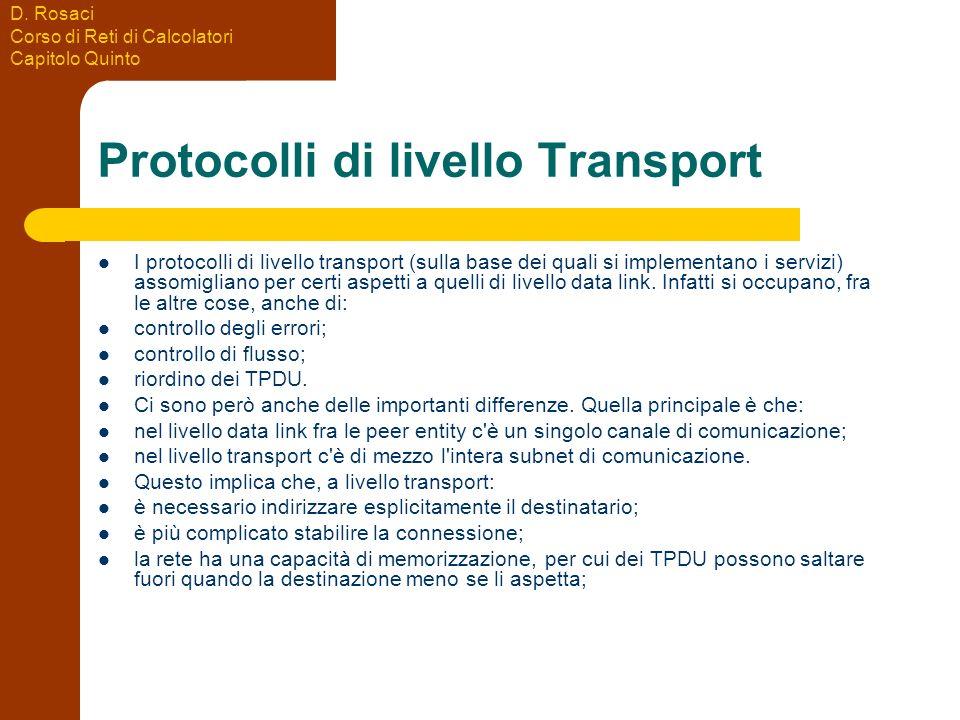 Protocolli di livello Transport