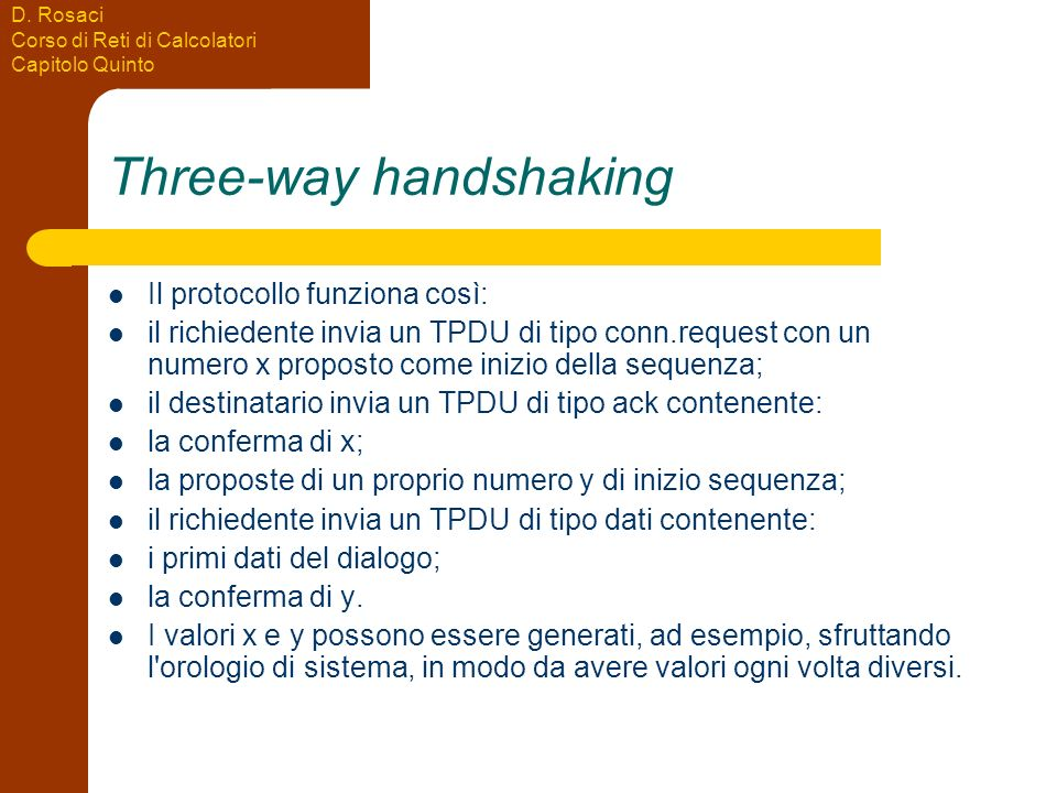 Three-way handshaking