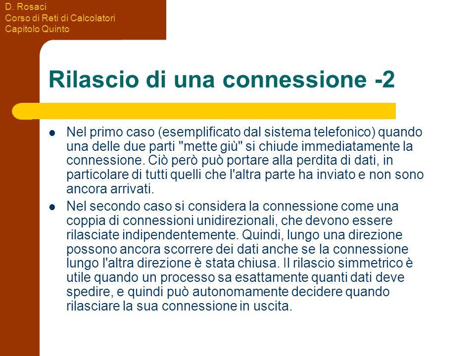 Rilascio di una connessione -2