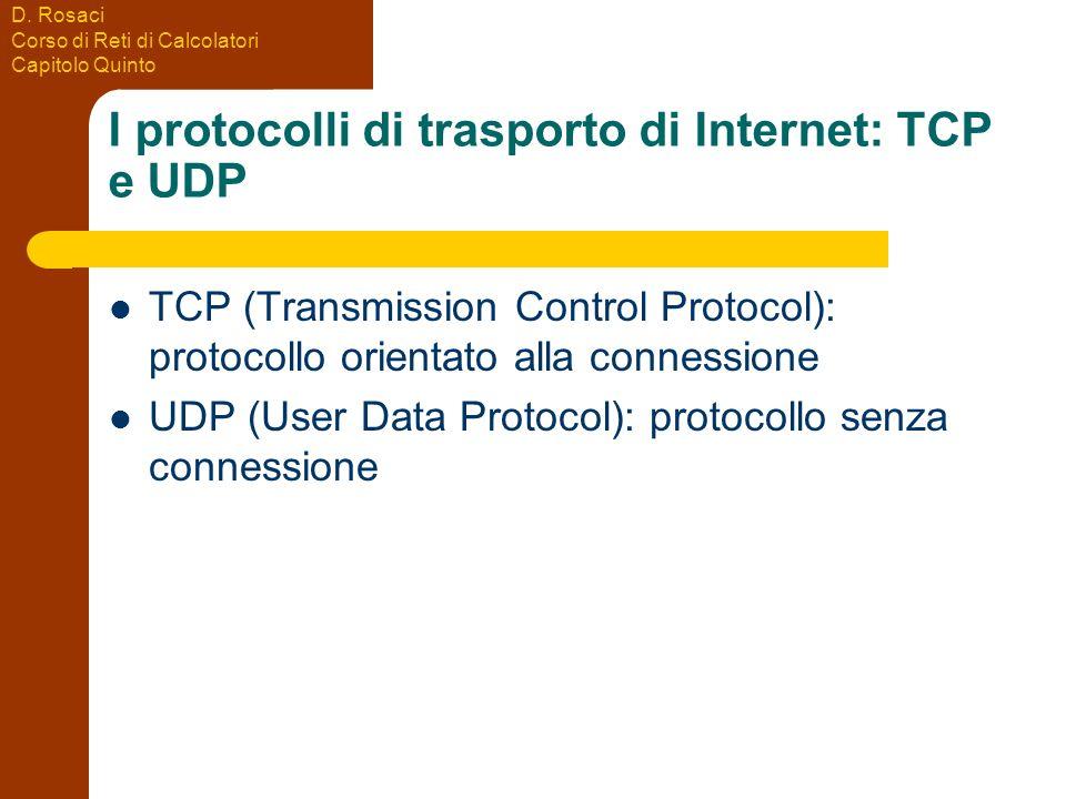 I protocolli di trasporto di Internet: TCP e UDP