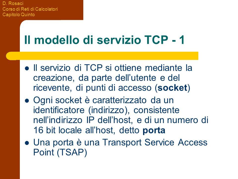 Il modello di servizio TCP - 1