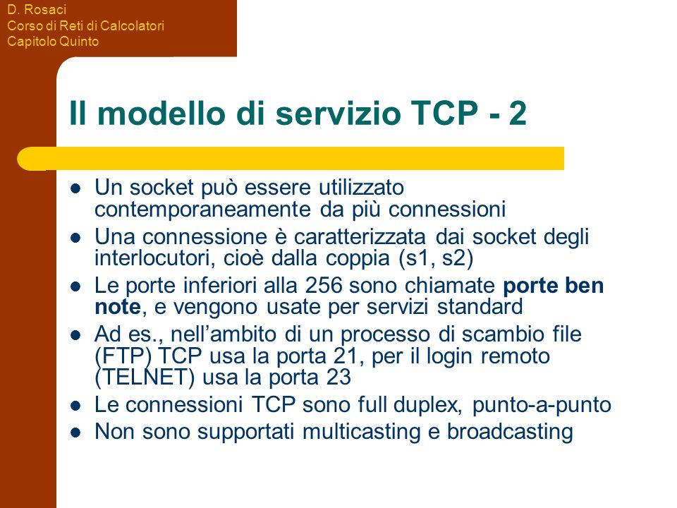 Il modello di servizio TCP - 2