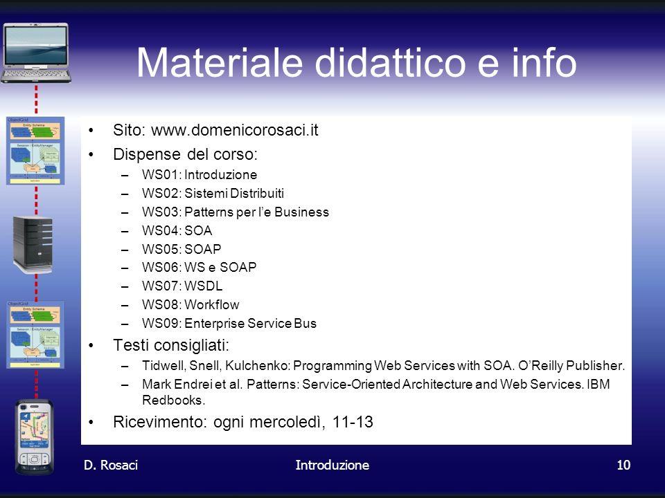 Materiale didattico e info