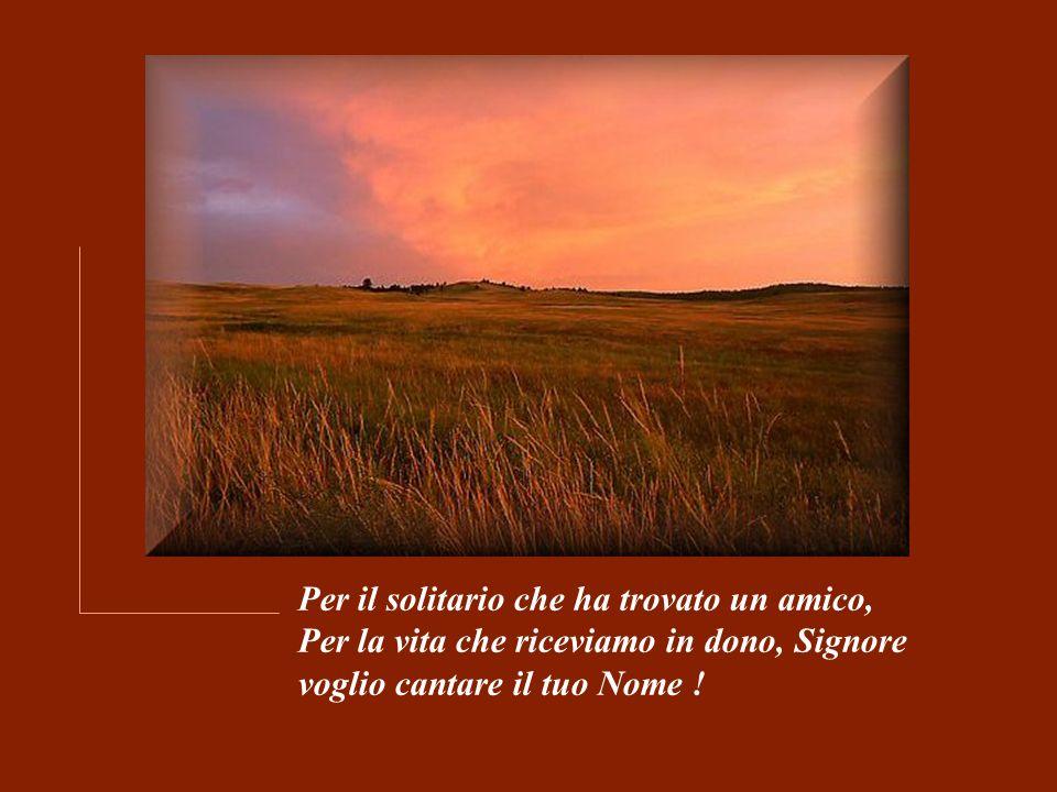 Per il solitario che ha trovato un amico, Per la vita che riceviamo in dono, Signore voglio cantare il tuo Nome !