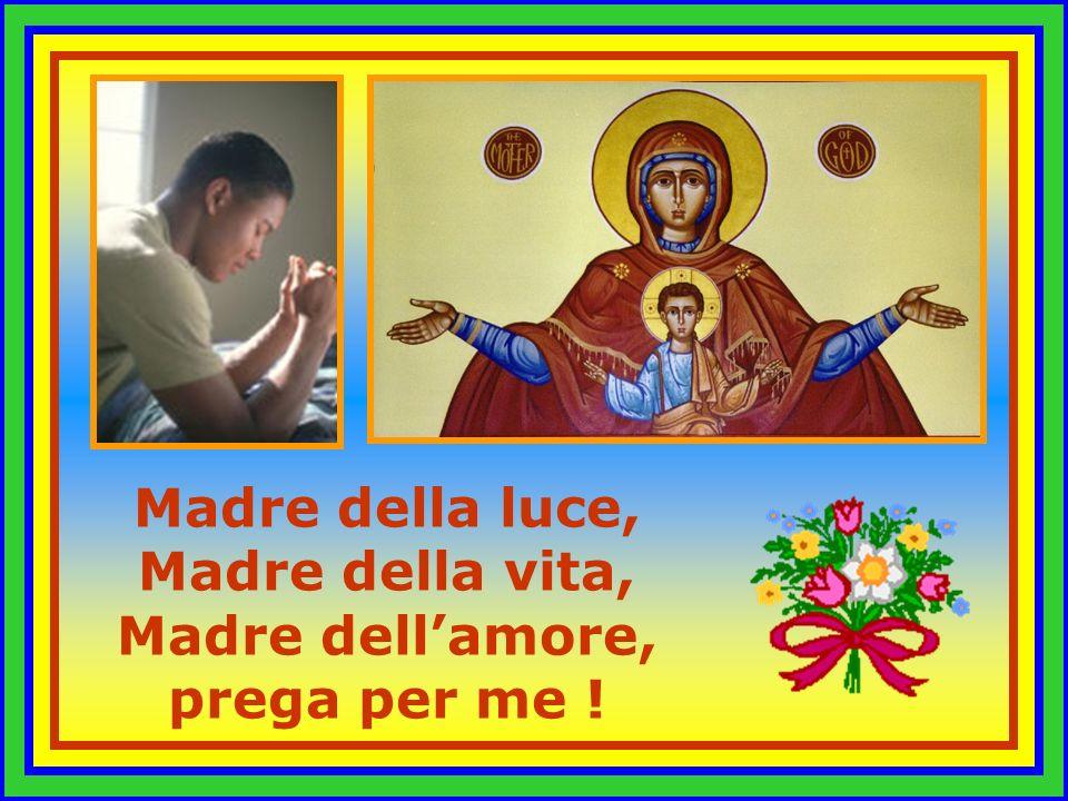 Madre della luce, Madre della vita, Madre dell'amore, prega per me !