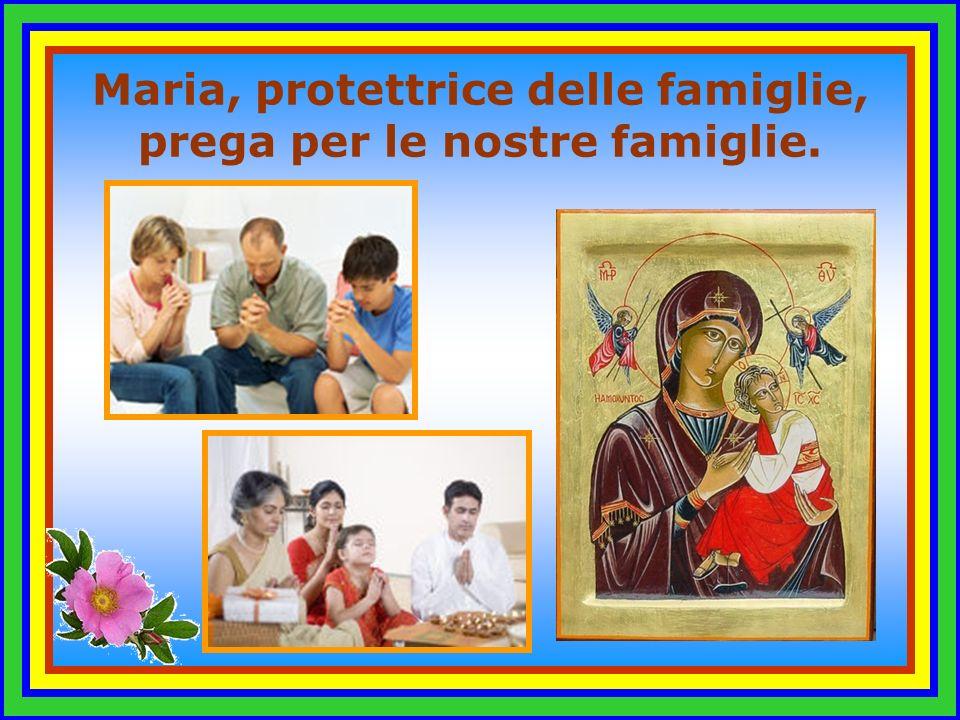 Maria, protettrice delle famiglie, prega per le nostre famiglie.