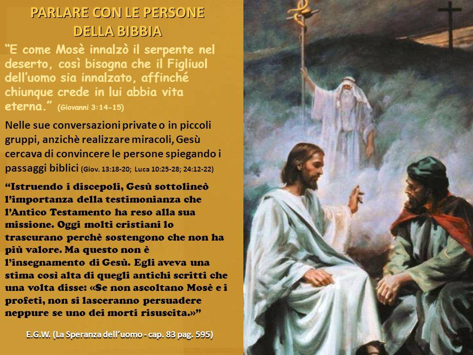 PARLARE CON LE PERSONE DELLA BIBBIA