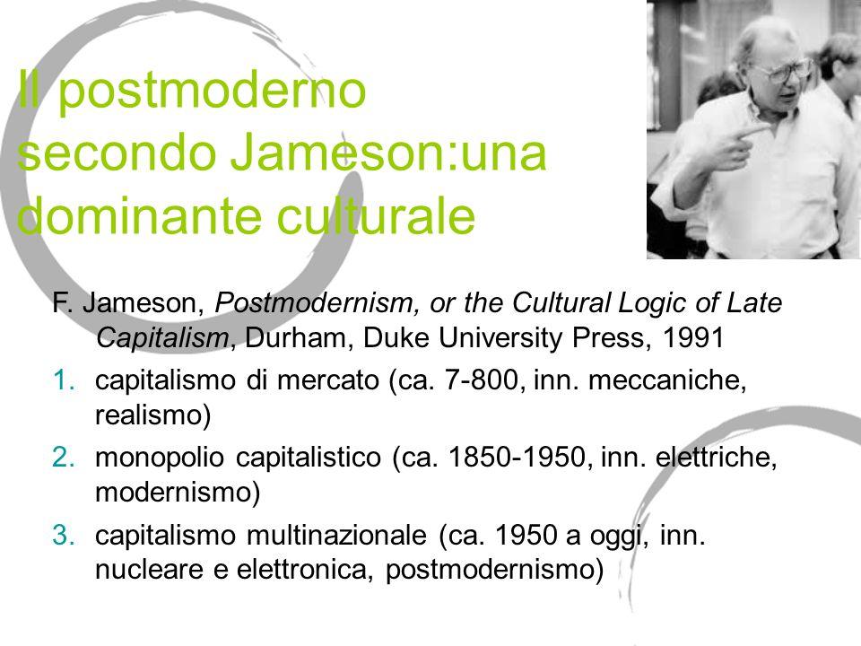 Il postmoderno secondo Jameson:una dominante culturale