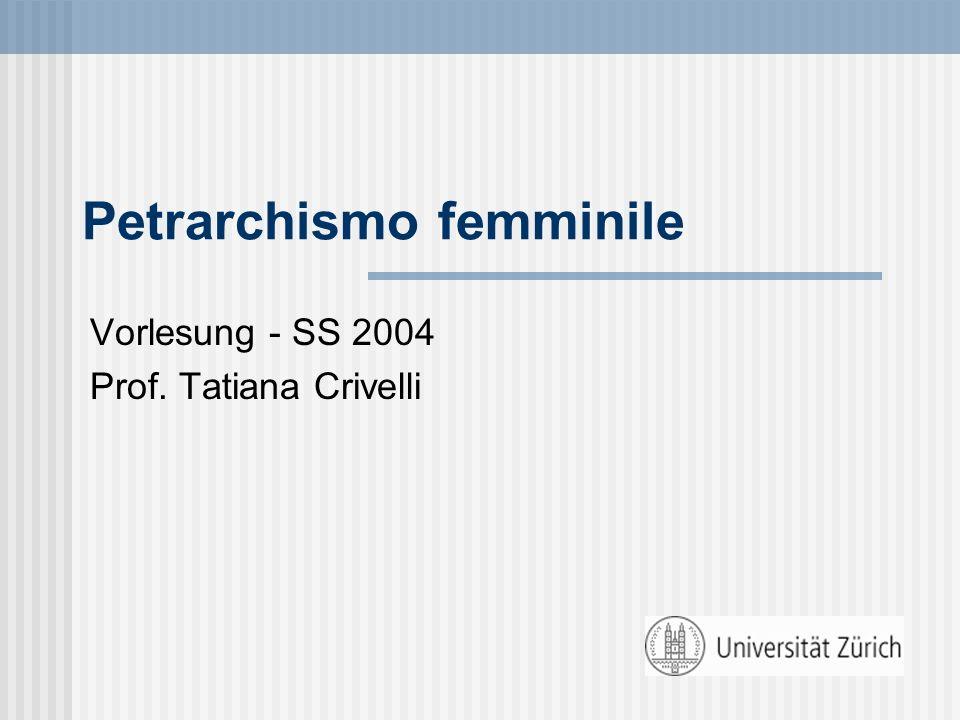Petrarchismo femminile