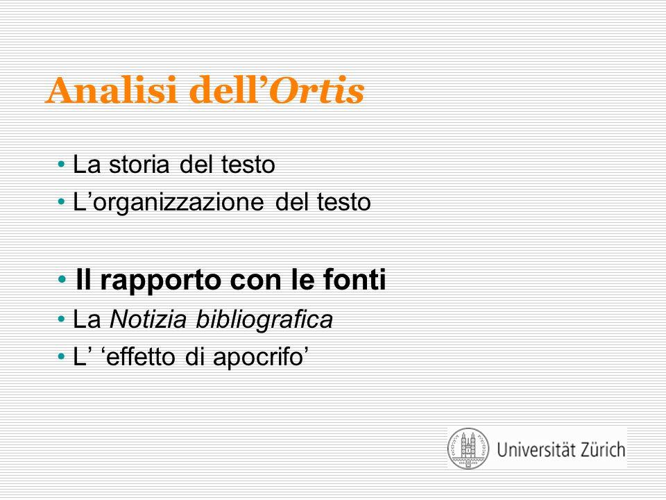 Analisi dell'Ortis Il rapporto con le fonti La storia del testo