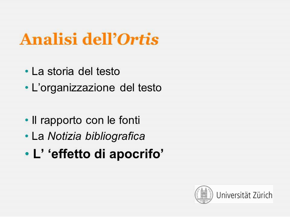 Analisi dell'Ortis L' 'effetto di apocrifo' La storia del testo