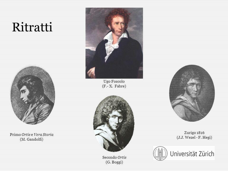 Ritratti Ugo Foscolo (F.- X. Fabre) Zurigo 1816 (J.J. Wezel - F. Hegi)