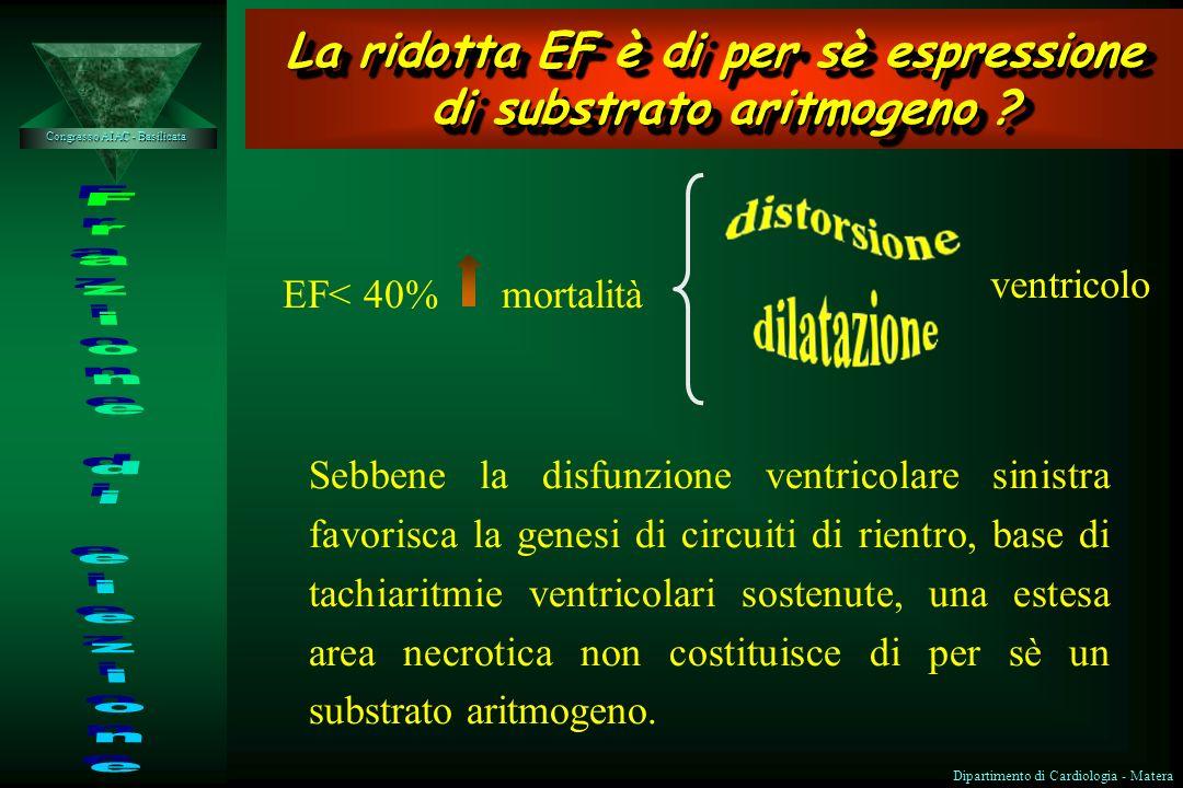 La ridotta EF è di per sè espressione