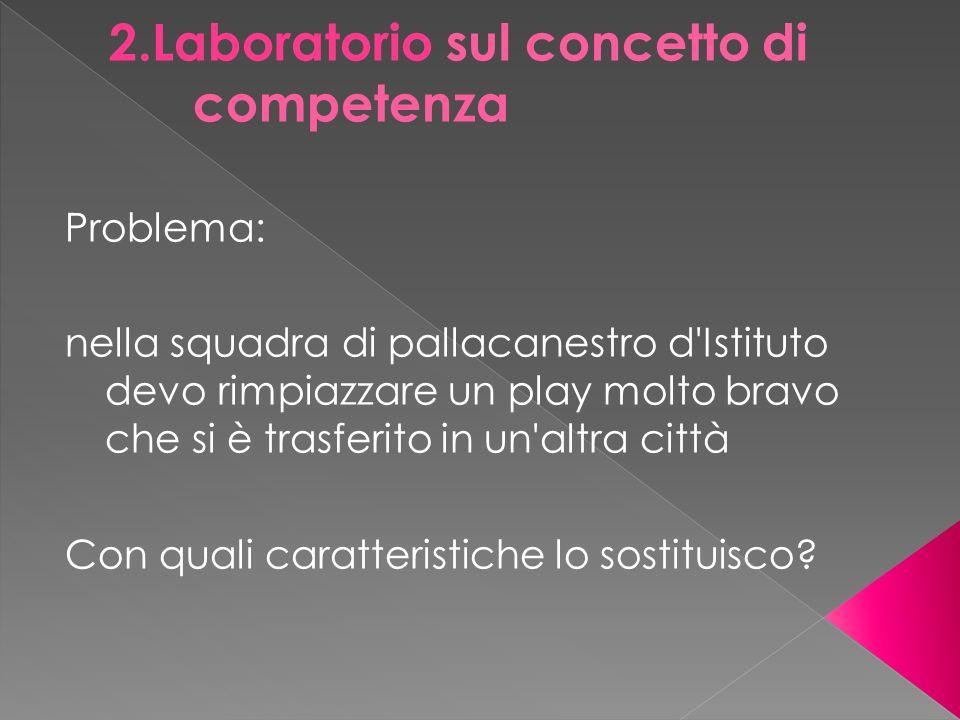 2.Laboratorio sul concetto di competenza