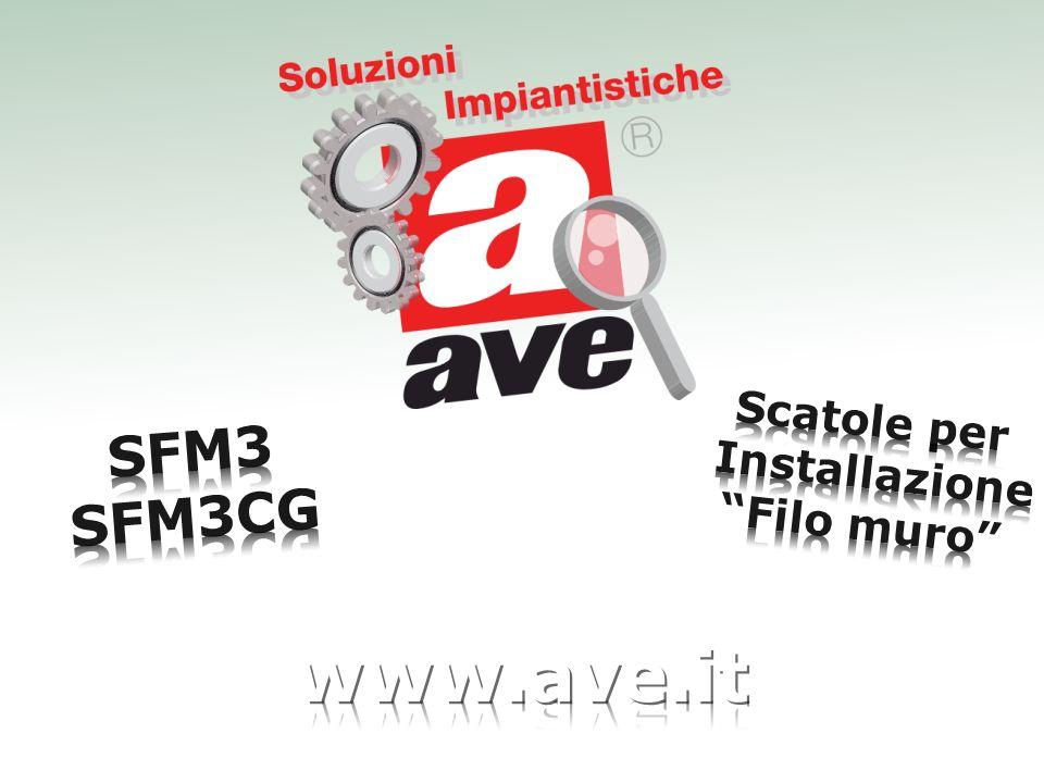 Scatole per Installazione Filo muro SFM3 SFM3CG www.ave.it