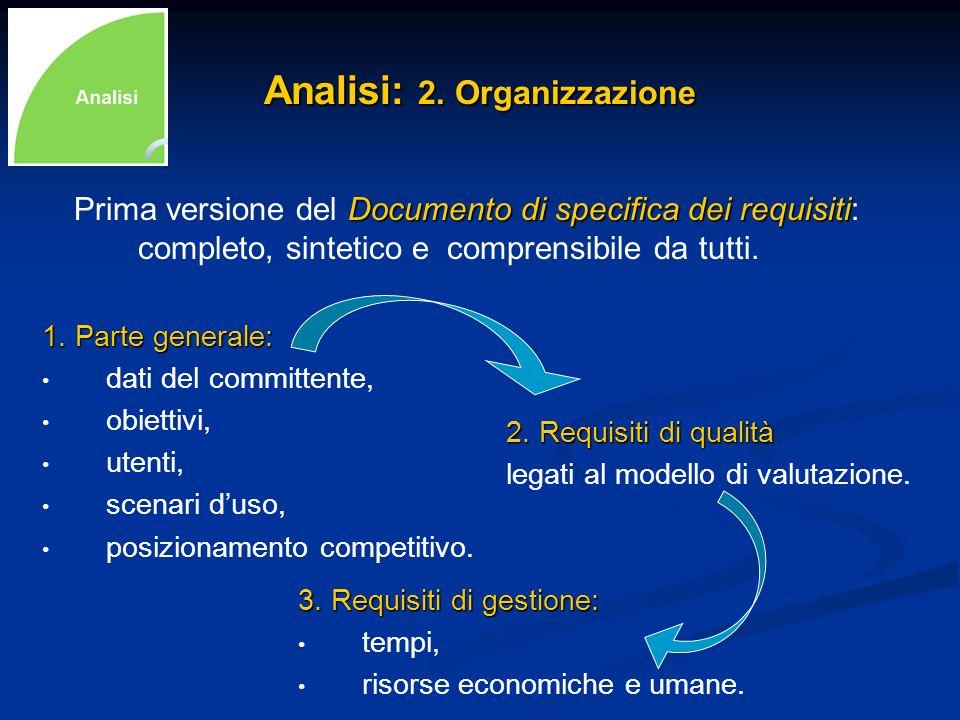 Analisi: 2. Organizzazione