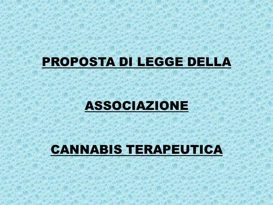 PROPOSTA DI LEGGE DELLA