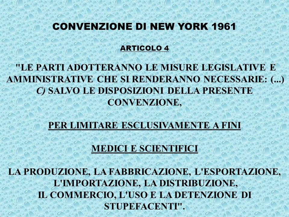 CONVENZIONE DI NEW YORK 1961