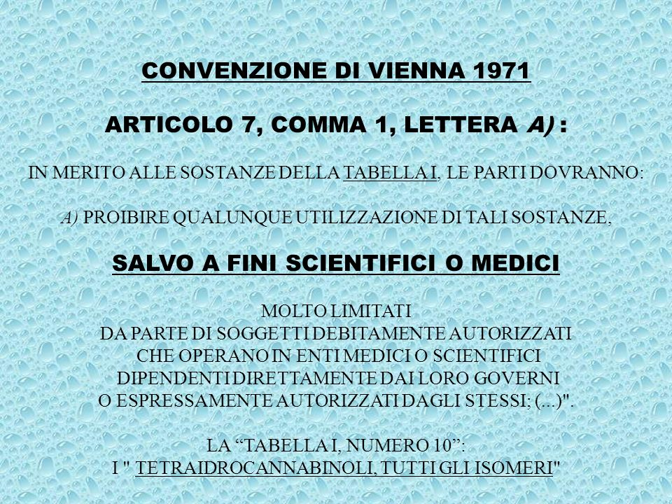 ARTICOLO 7, COMMA 1, LETTERA A) :