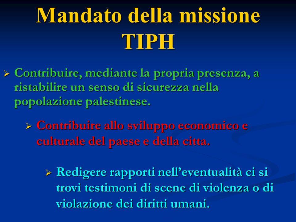 Mandato della missione TIPH