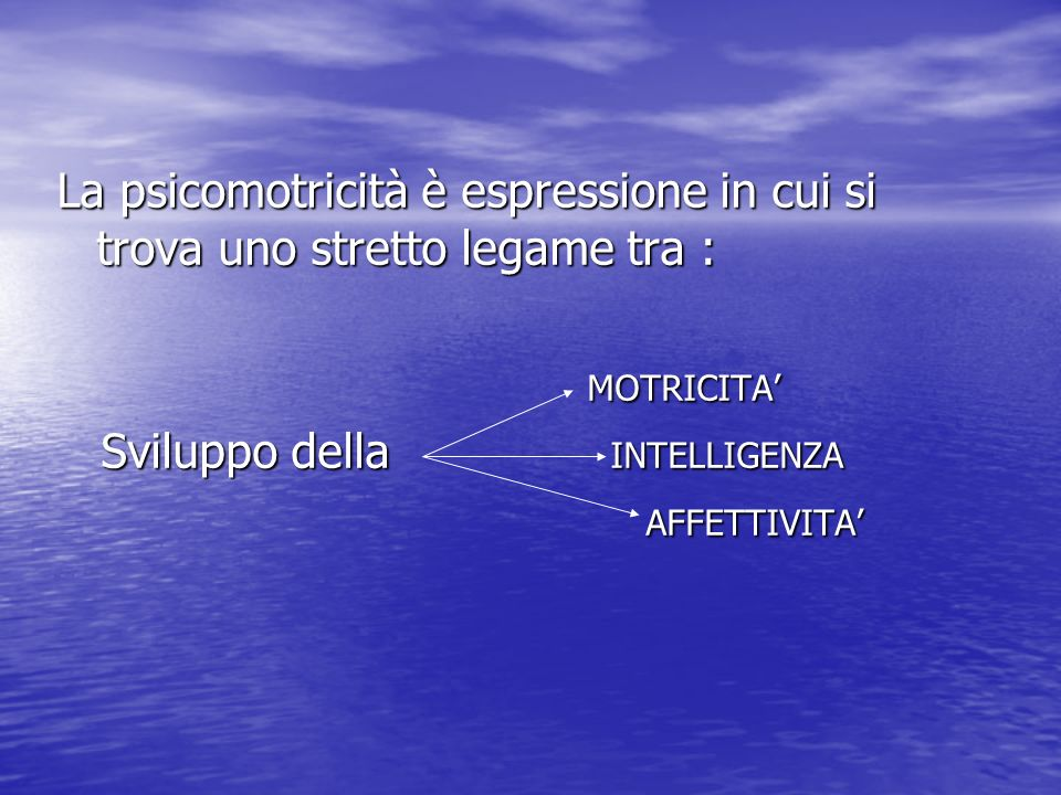La psicomotricità è espressione in cui si trova uno stretto legame tra :