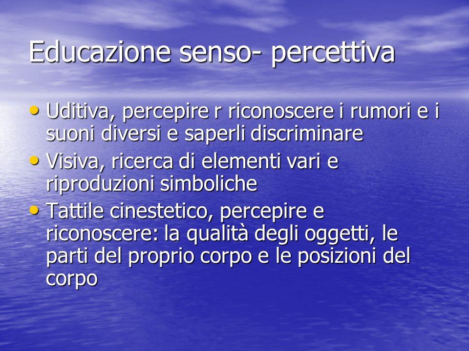 Educazione senso- percettiva
