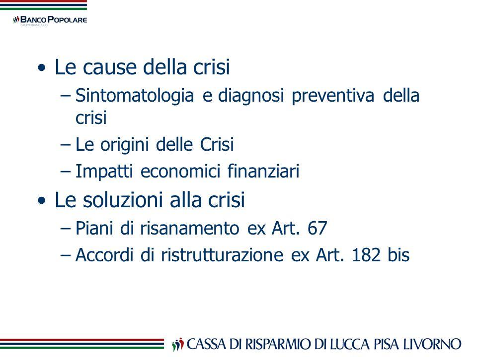 Le soluzioni alla crisi