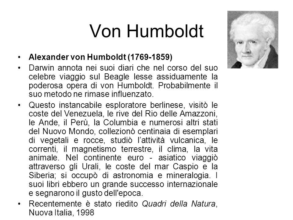 Von Humboldt Alexander von Humboldt (1769-1859)