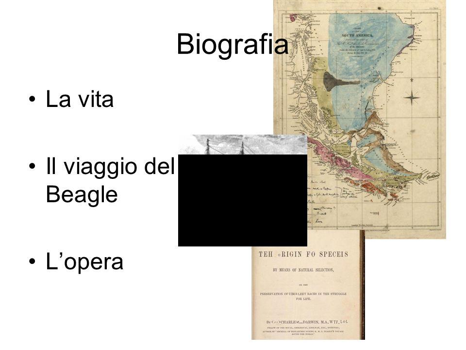 Biografia La vita Il viaggio del Beagle L'opera