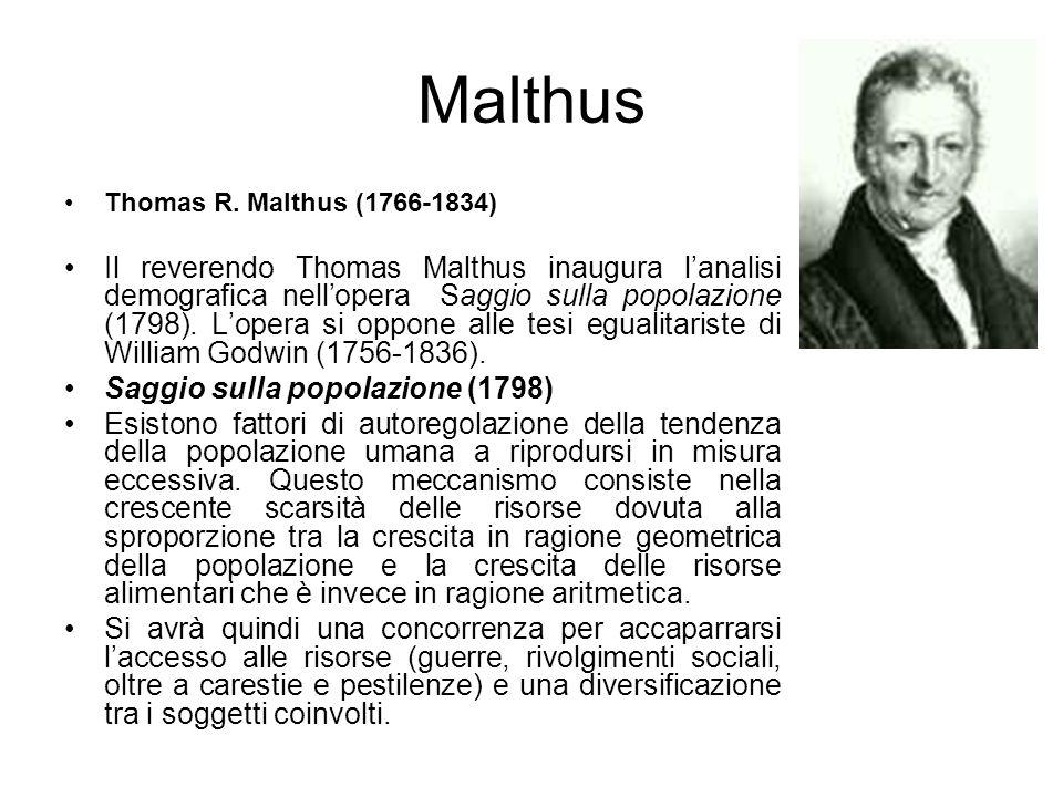 Malthus Thomas R. Malthus (1766-1834)