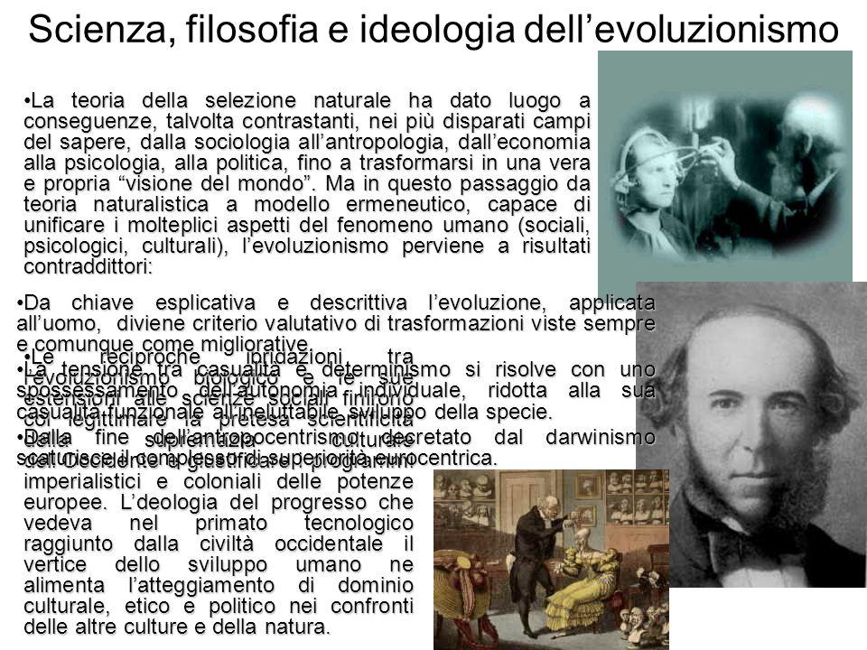 Scienza, filosofia e ideologia dell'evoluzionismo