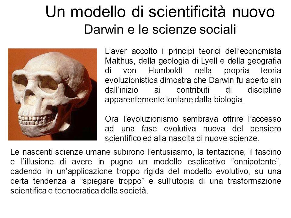 Un modello di scientificità nuovo Darwin e le scienze sociali