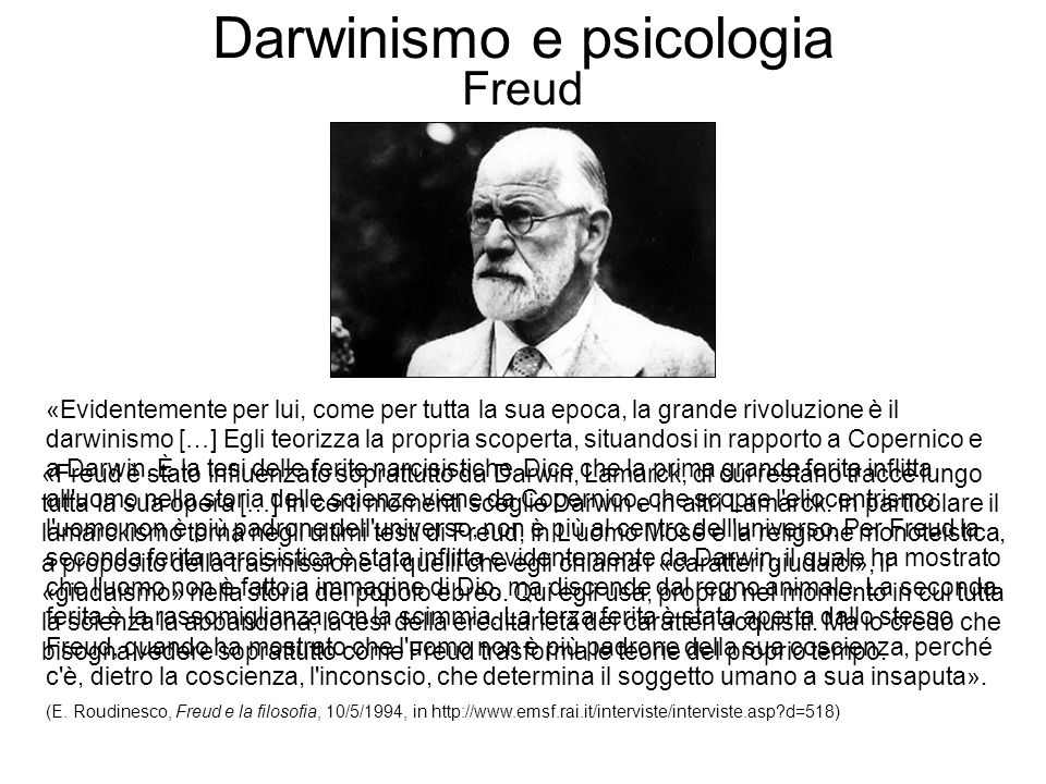 Darwinismo e psicologia Freud