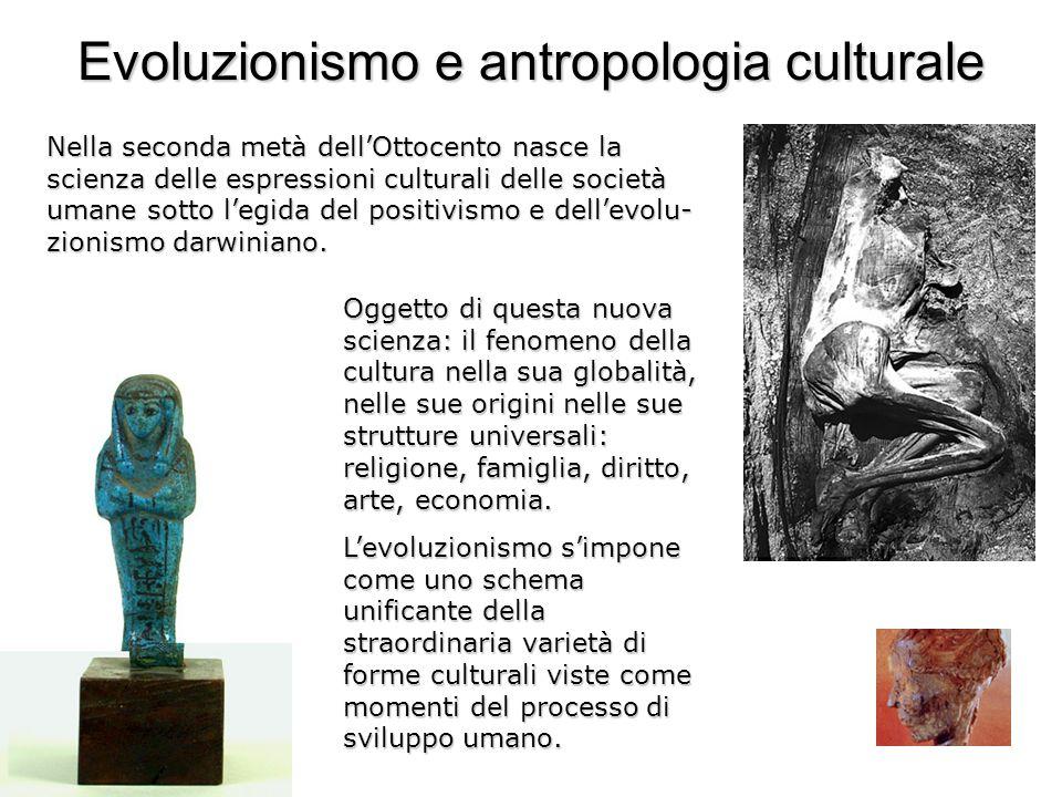 Evoluzionismo e antropologia culturale