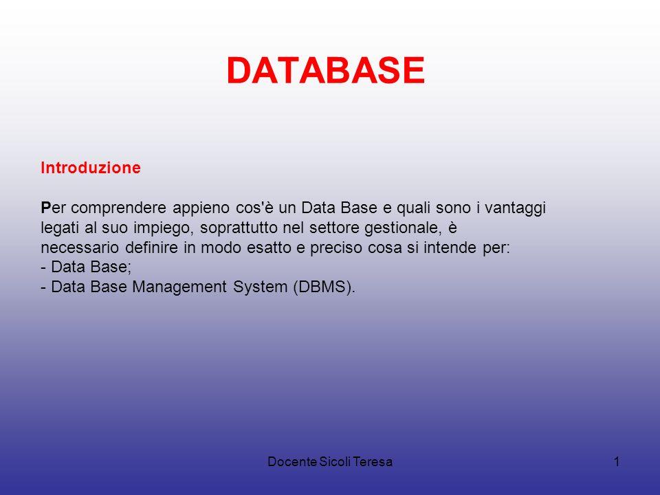 DATABASE Introduzione