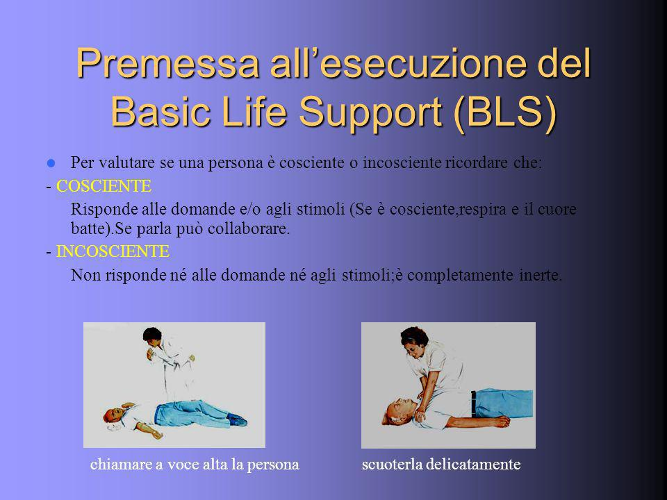 Premessa all'esecuzione del Basic Life Support (BLS)