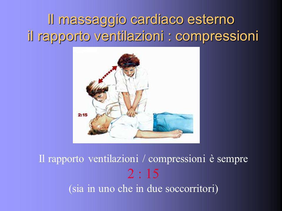 Il massaggio cardiaco esterno il rapporto ventilazioni : compressioni