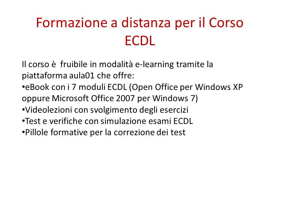 Formazione a distanza per il Corso ECDL