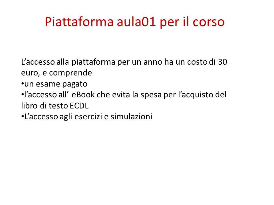 Piattaforma aula01 per il corso
