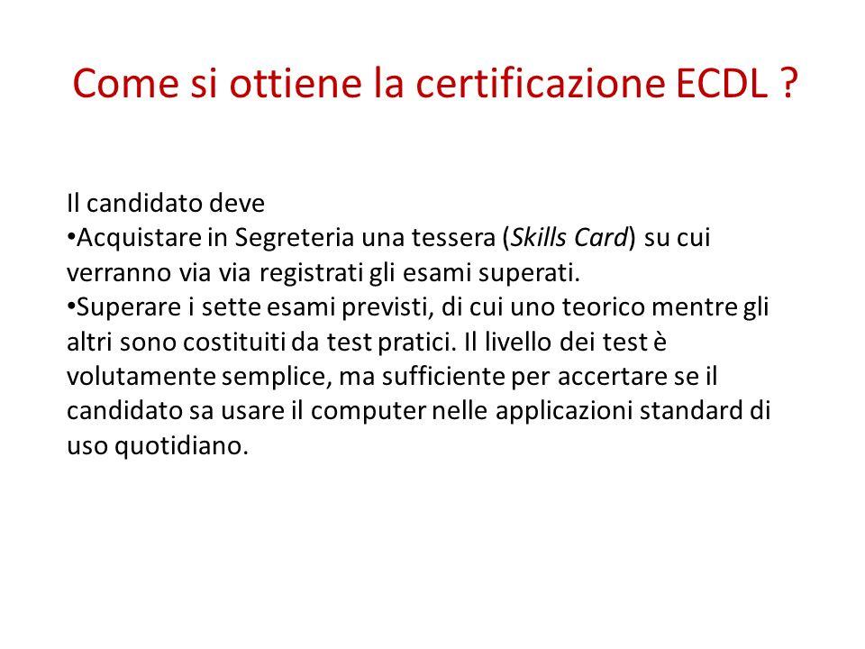 Come si ottiene la certificazione ECDL