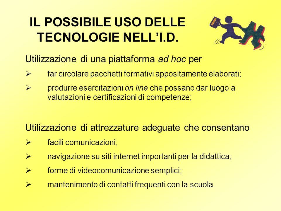 IL POSSIBILE USO DELLE TECNOLOGIE NELL'I.D.