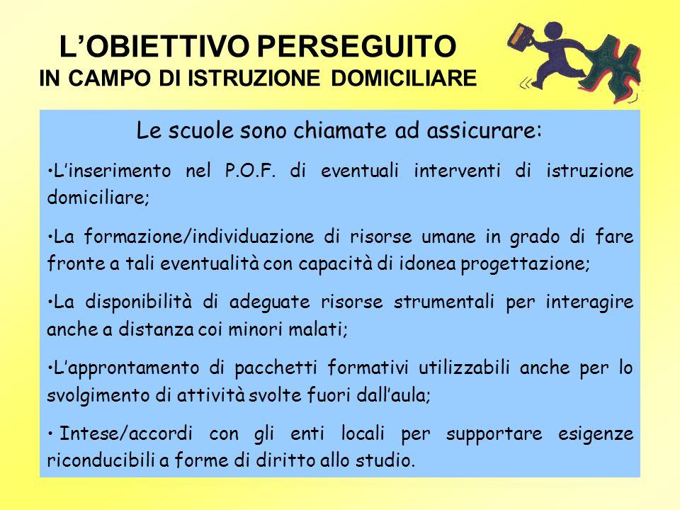 L'OBIETTIVO PERSEGUITO IN CAMPO DI ISTRUZIONE DOMICILIARE