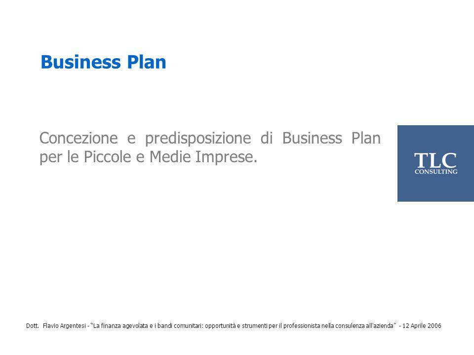 Business Plan Concezione e predisposizione di Business Plan per le Piccole e Medie Imprese.