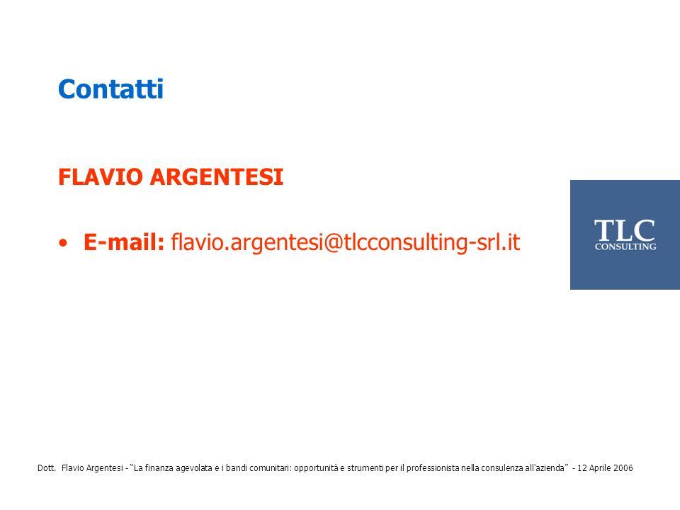 Contatti FLAVIO ARGENTESI