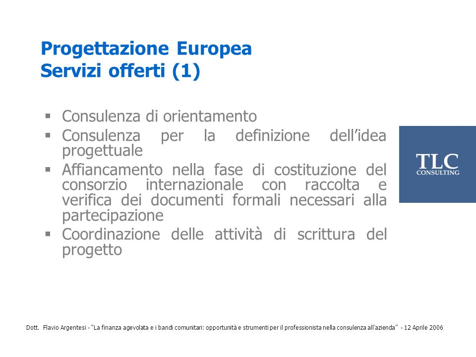 Progettazione Europea Servizi offerti (1)