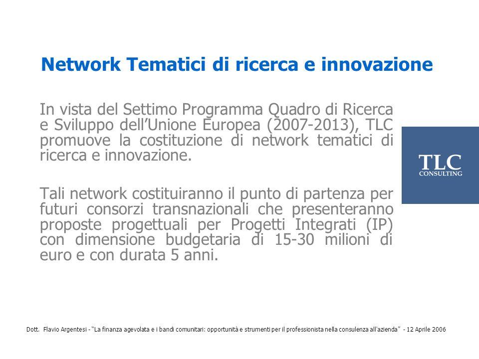 Network Tematici di ricerca e innovazione