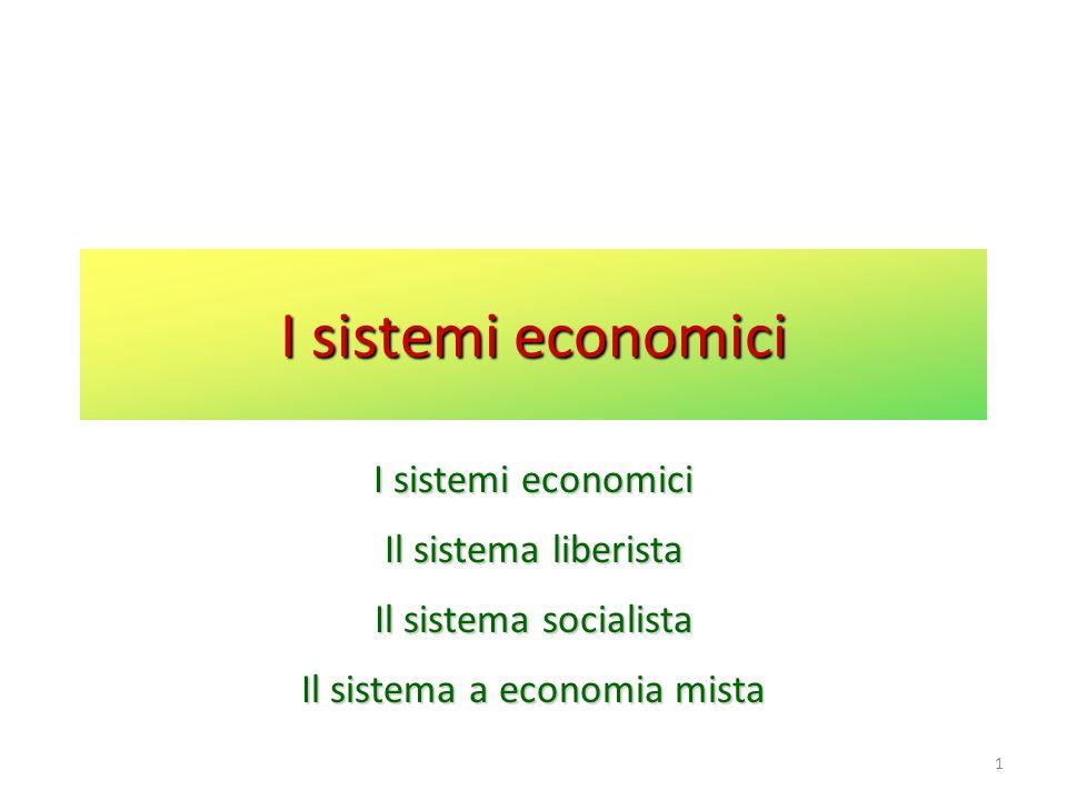 Il sistema a economia mista