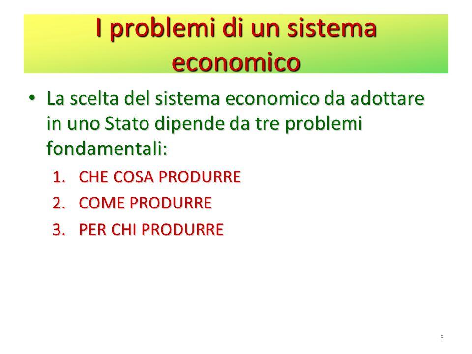 I problemi di un sistema economico